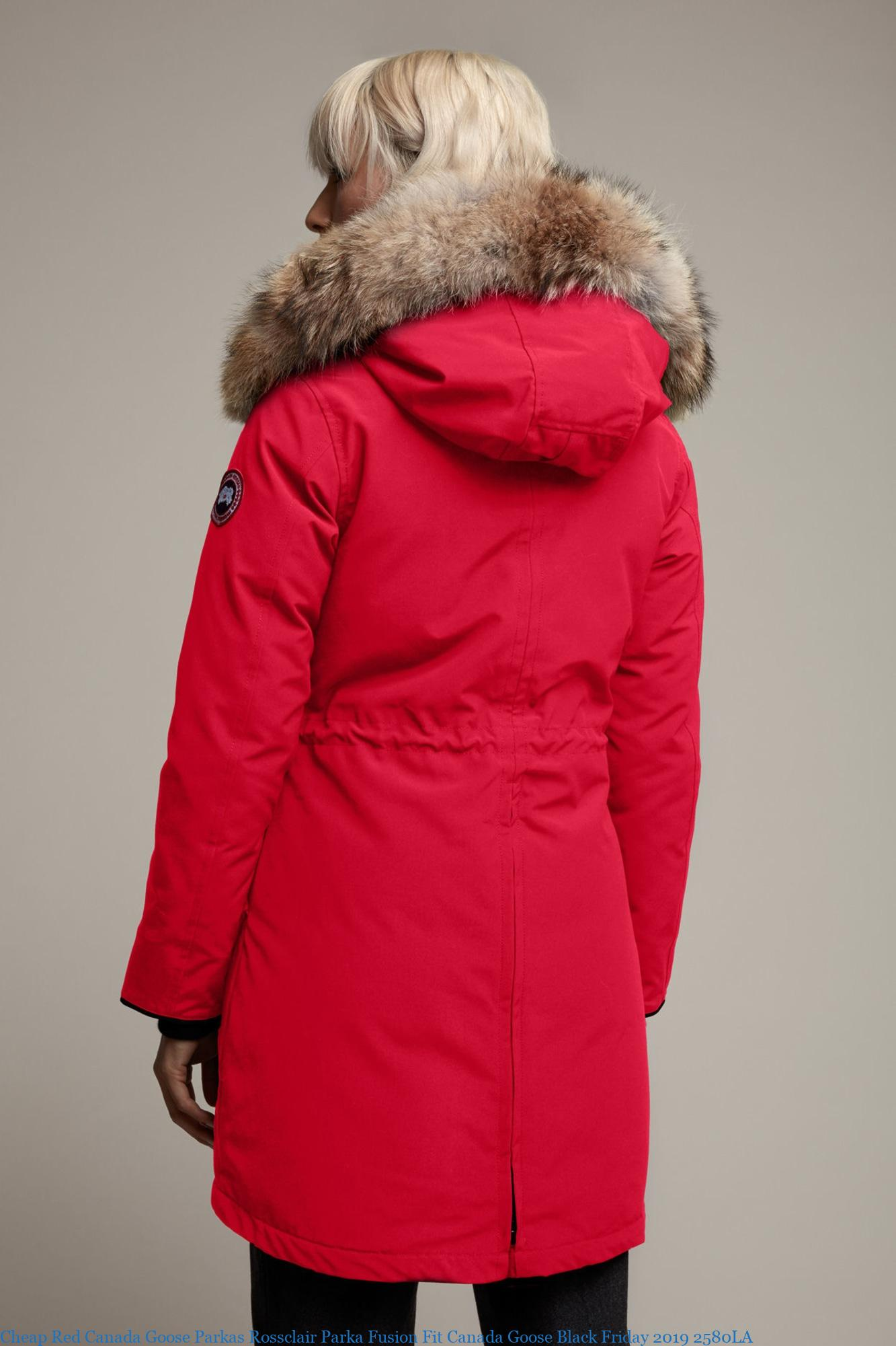 Cheap Red Canada Goose Parkas Rossclair Parka Fusion Fit Canada