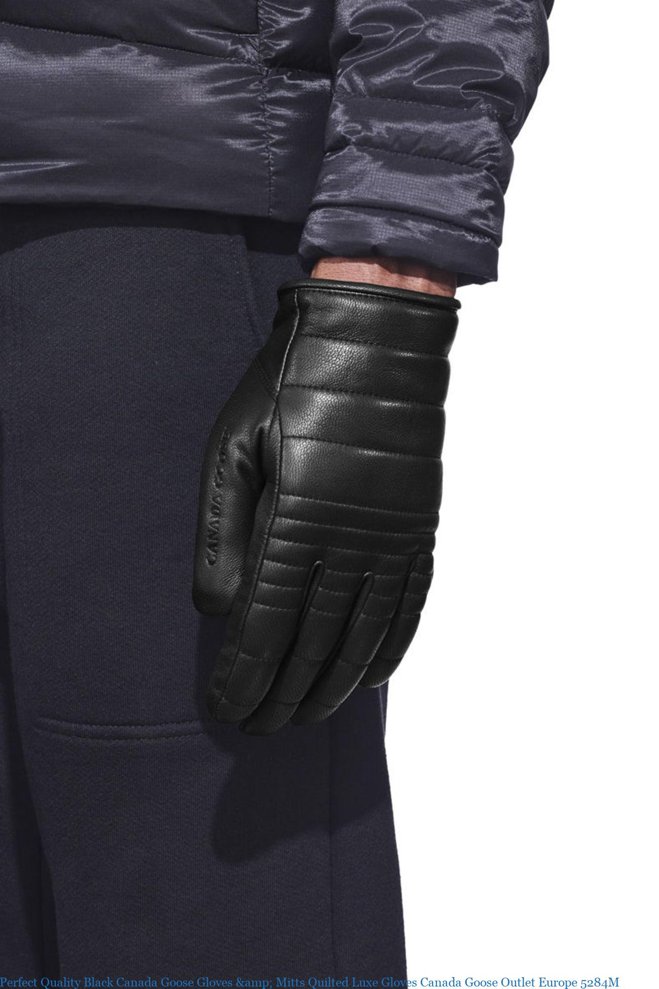 Perfect Quality Black Canada Goose Gloves Mitts Quilted Luxe Gloves Canada Goose Outlet Europe 5284m